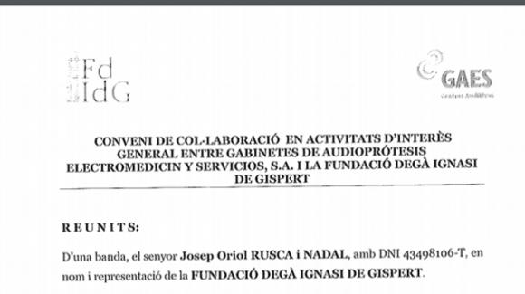 Convenio firmado con GAES